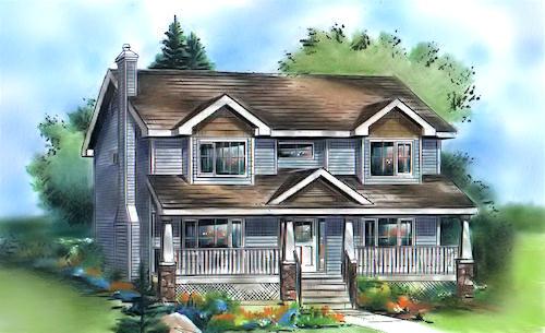 Casa ideal para familias grandes planos de casas gratis deplanos com - Dibujos de casas modernas ...