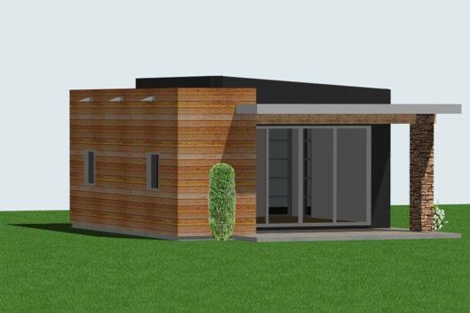 Plano de estudio o monoambiente de 37 metros cuadrados for Fachadas modernas para oficinas