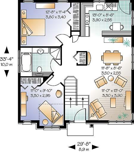 Casa de 1 piso 2 habitaciones y 90 metros cuadrados - Como sacar los metros cuadrados de una habitacion ...