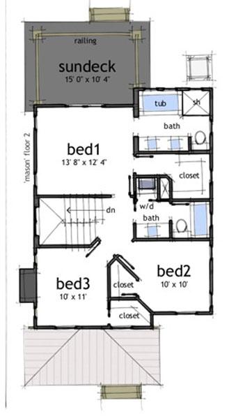 Casa de 2 pisos 3 habitaciones y 150 metros cuadrados for Piso 70 metros cuadrados