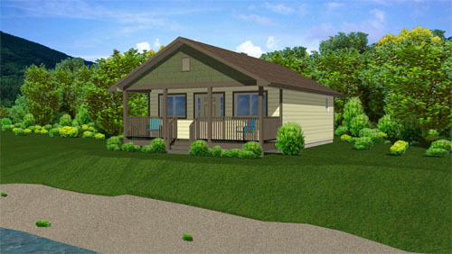 Casa de 1 habitaciones y 56 metros cuadrados planos de for Diseno de casa de 56 metros cuadrados