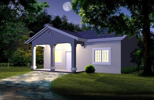 Peque a casa de 1 habitacion planos de casas gratis - Coste de amueblar un piso ...