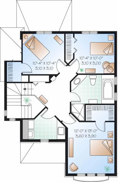 Casas De 100 M2 A 200 M2 Disenos De Casas E Interiores - Planos-de-pisos-de-3-dormitorios