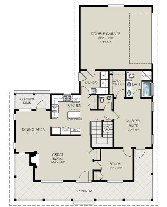 Casa de dos pisos cuatro dormitorios y 195 metros - Planos casas planta baja ...