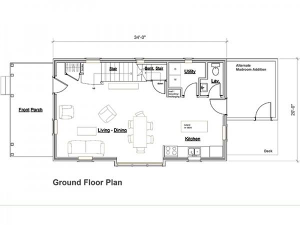 Casa de 2 pisos 3 dormitorios y 127 metros cuadrados - Planos casas planta baja ...