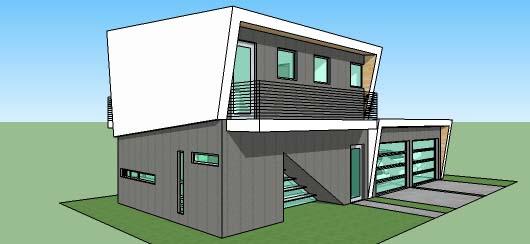 Casa moderna de dos pisos dos dormitorios y 109 metros for Casas modernas 120 metros cuadrados
