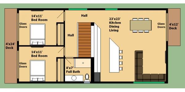 Casa de 2 pisos 4 dormitorios y 160 metros cuadrados for Bano 2 metros cuadrados
