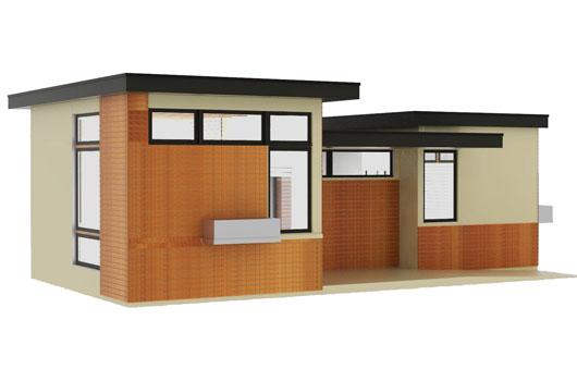 Casa de un dormitorio y 50 metros cuadrados planos de for Casa moderna 50 metros cuadrados