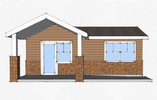 Casa de 1 dormitorio y 45 metros cuadrados planos de casas for Cuarto de 6 metros cuadrados