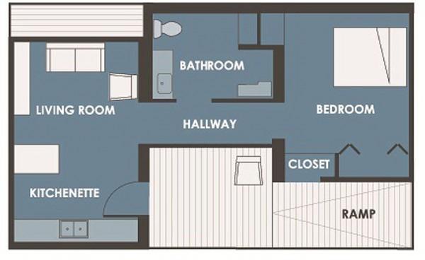 Casa de un dormitorio y 50 metros cuadrados planos de for Dormitorio 10 metros cuadrados
