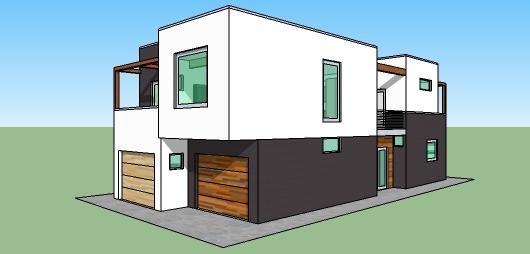 Casa moderna de dos pisos tres dormitorios y 168 metros for Casas modernas de una planta y tres dormitorios