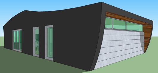 Casa moderna de un dormitorio y 78 metros cuadrados planos for Casa moderna 80 metros cuadrados