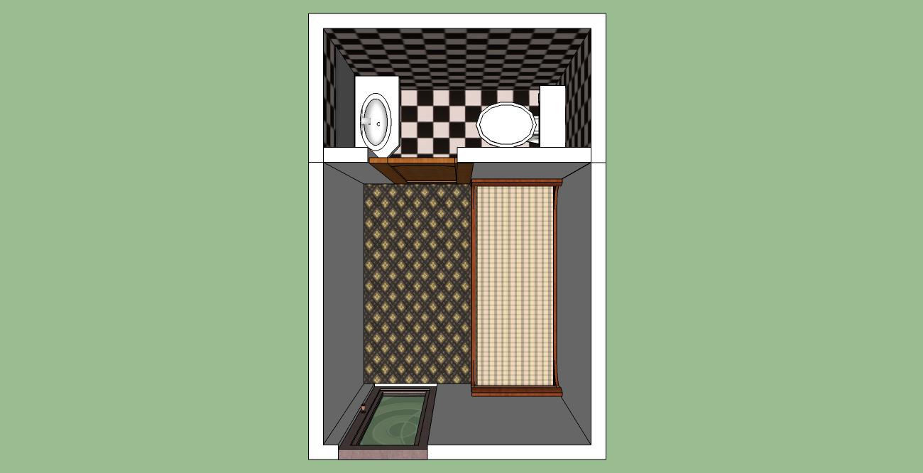 Mini pieza y ba o planos de casas gratis deplanos com for Plano de pieza cocina y bano