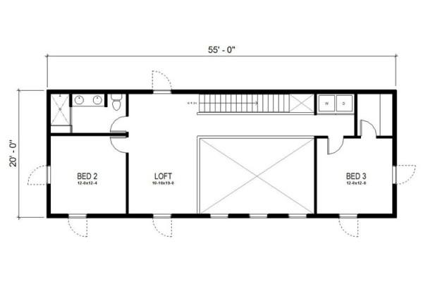 Casa de 2 pisos 3 dormitorios y 204 metros cuadrados for Dormitorio 10 metros cuadrados