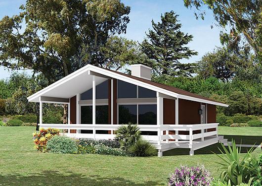 Casa de campo moderna de dos dormitorios y 74 metros for Modelos de casas de campo modernas