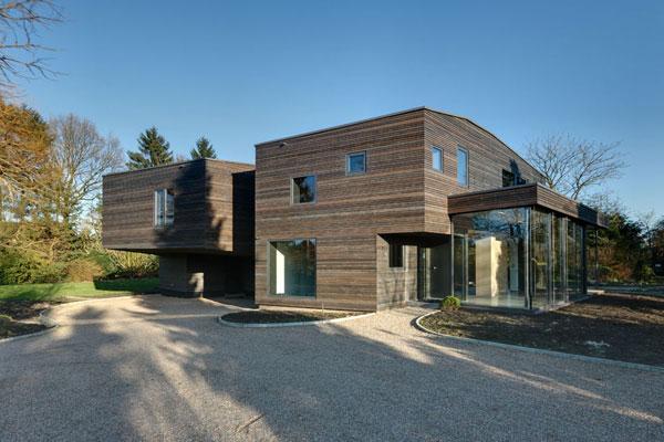 Casa moderna de 2 pisos y 350 metros cuadrados planos de for Casa moderna 80 metros cuadrados