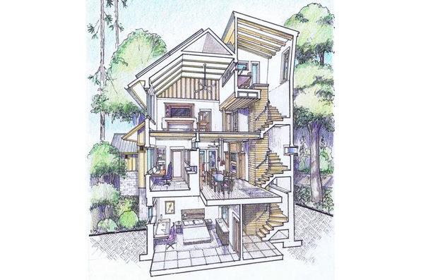 Casa de tres pisos 5 dormitorios y 238 metros cuadrados for Distribucion piso 70 metros