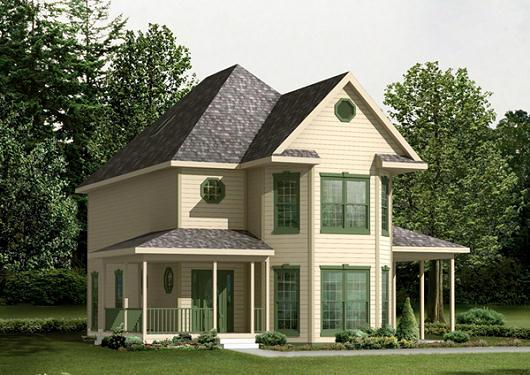 Casa de campo de dos pisos tres dormitorios y 169 metros for Modelos de jardines sencillos