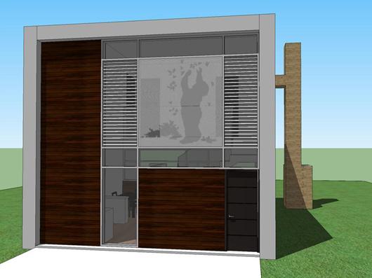 Moderna casa de dos pisos dos dormitorios y 66 metros for Casa moderna 5 dormitorios