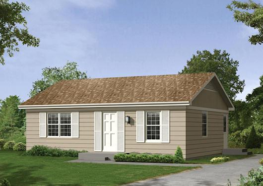 Casa economica de dos dormitorios y 74 metros cuadrados for Decoracion casas pequenas economicas