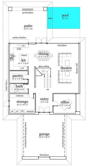 Moderna casa de dos pisos cuatro dormitorios y 316 metros for Casas modernas planta baja