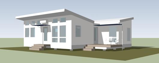 Peque a casa de un dormitorio y 60 metros cuadrados planos for Casa minimalistas de 90 metros cuadrados