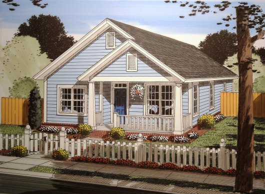 Casa clasica de tres dormitorios y 130 metros cuadrados for Casa clasica procrear 1 dormitorio