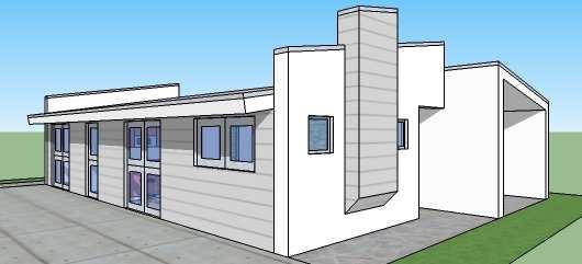 Moderna casa de tres dormitorios y 112 metros cuadrados for Casas modernas unifamiliares