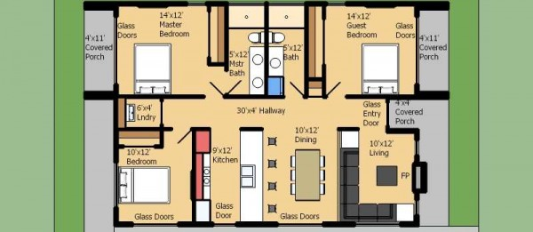 planos de casas 3 ambientes