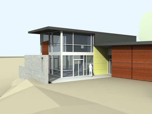 Moderna casa de dos pisos y dos dormitorios planos de for Casa minimalista planos gratis