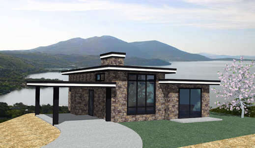 Casa de piedra de dos dormitorios y 100 metros cuadrados