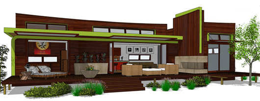 Moderna casa de dos dormitorios y 80 metros cuadrados for Casas modernas de 80 metros