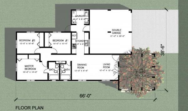 Moderna casa de tres dormitorios y 102 metros cuadrados for Casas modernas de una planta y tres dormitorios