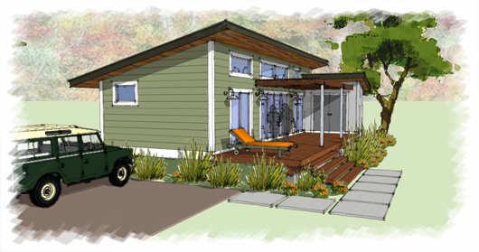 Peque a y moderna casa de 60 metros cuadrados planos de for Casa moderna 60 metros