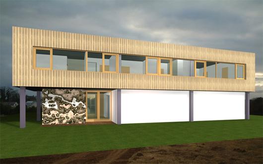 Casa moderna para esquina de 252 metros cuadrados planos for Diseno de apartamentos de 90 metros cuadrados