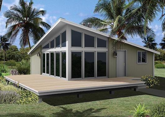 Moderna casa de campo de 3 dormitorios y 73 metros for Planos de casas de campo de 3 dormitorios
