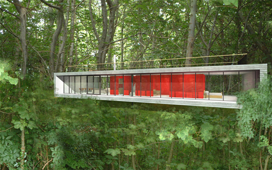 Moderna casa de campo de 2 dormitorios y 158 metros for Planos de casas de campo modernas