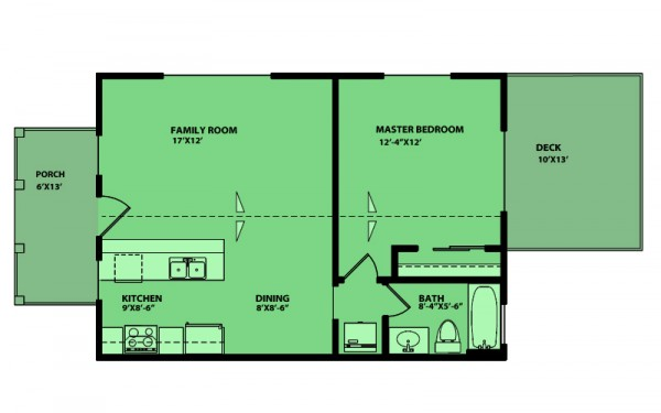 Peque A Casa De Un Dormitorio Y 60 Metros Cuadrados