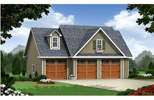 Casa de un dormitorio con tres cocheras planos de casas for Disenos de casas actuales