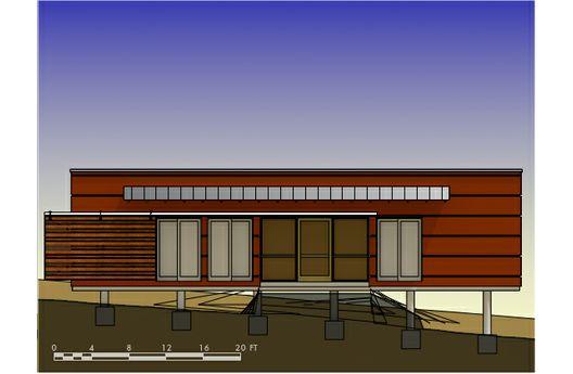Casa moderna de un dormitorio y 40 metros cuadrados planos for Casa de 40 metros cuadrados