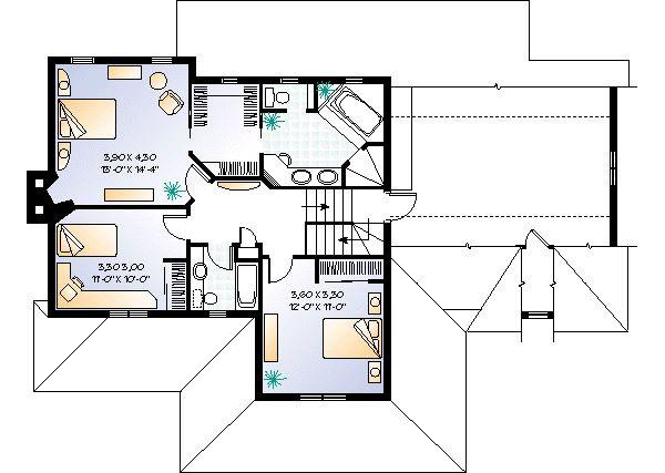 Construir Un Baño En Planta Alta:Casa de dos pisos, tres dormitorios y 203 metros cuadrados – Planos de