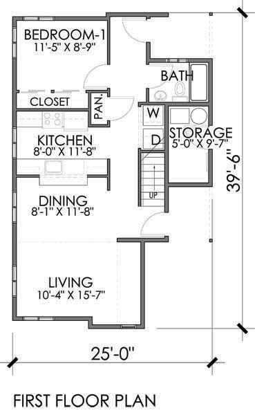 Casa moderna de dos pisos tres dormitorios y 119 metros - Planos casas planta baja ...