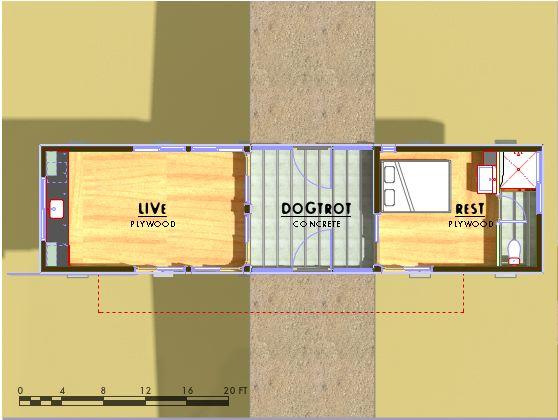 Casa moderna de un dormitorio y 40 metros cuadrados for Casa de 40 metros cuadrados