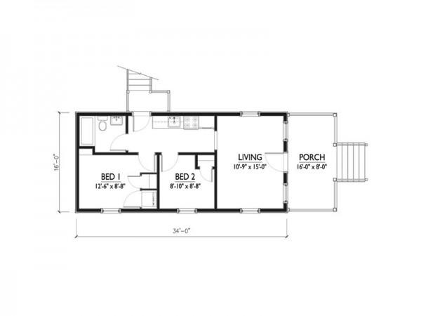 Diminuta casa de dos dormitorios y 50 metros cuadrados for Dormitorio 6 metros cuadrados