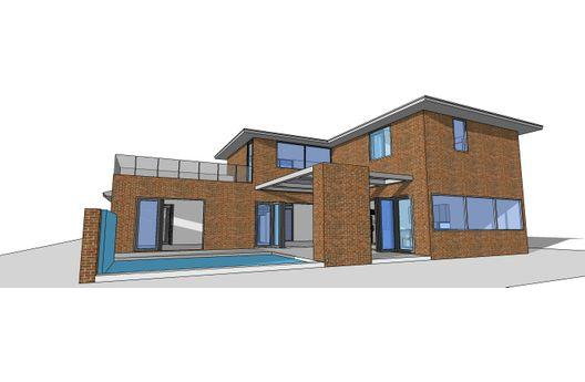 Casa moderna con pileta planos de casas gratis deplanos com for Piletas modernas