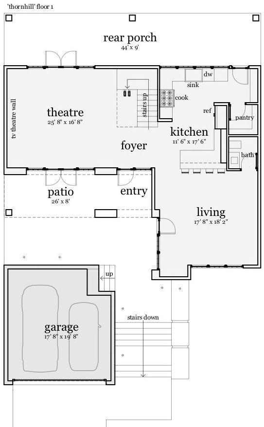 Casa lujosa grande de tres dormtiorios planos de casas for Planos de cocina lavadero