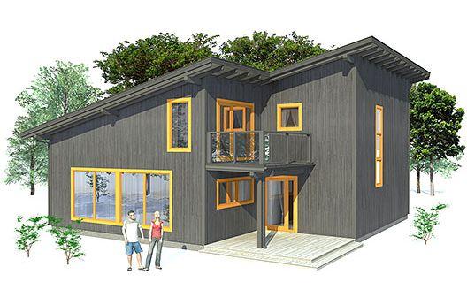 Casas de 100 m2 a 200 m2 for Porche casa moderna
