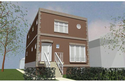 Casa de dos pisos con sotano