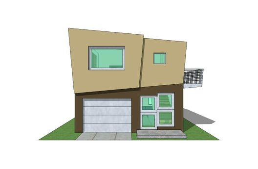 Duplex de un dormitorio y 73 metros cuadrados en 3d planos for Fachadas duplex minimalistas
