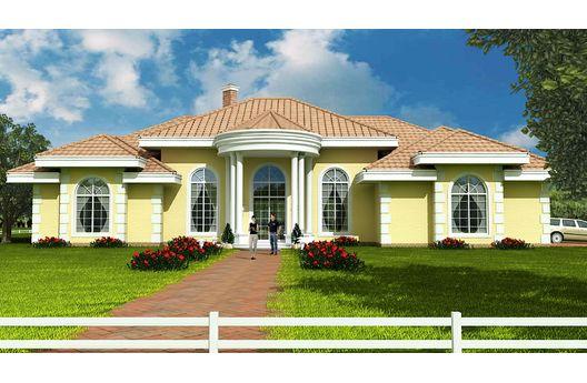 Casa mediterranea de 4 dormitorios y 290 metros cuadrados for Fachadas de casas de una sola planta